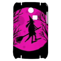 Halloween witch - pink moon Samsung S3350 Hardshell Case