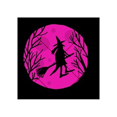 Halloween witch - pink moon Acrylic Tangram Puzzle (4  x 4 )