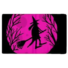 Halloween witch - pink moon Apple iPad 2 Flip Case