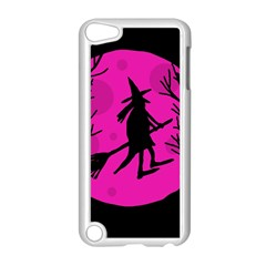 Halloween witch - pink moon Apple iPod Touch 5 Case (White)