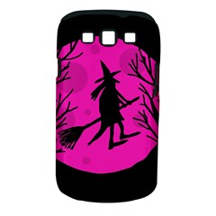 Halloween witch - pink moon Samsung Galaxy S III Classic Hardshell Case (PC+Silicone)
