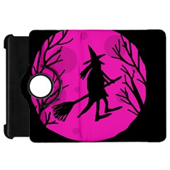 Halloween witch - pink moon Kindle Fire HD Flip 360 Case