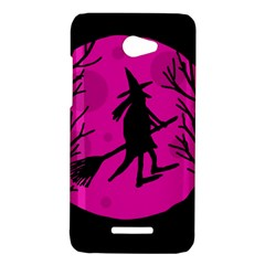 Halloween witch - pink moon HTC Butterfly X920E Hardshell Case