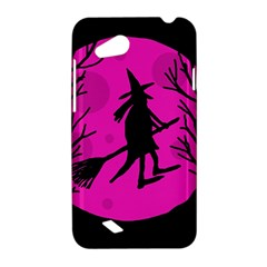 Halloween witch - pink moon HTC Desire VC (T328D) Hardshell Case