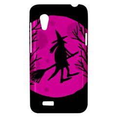 Halloween witch - pink moon HTC Desire VT (T328T) Hardshell Case