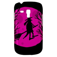 Halloween witch - pink moon Samsung Galaxy S3 MINI I8190 Hardshell Case