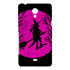 Halloween witch - pink moon Sony Xperia T