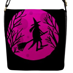 Halloween witch - pink moon Flap Messenger Bag (S)