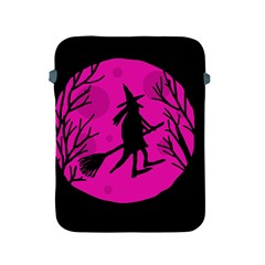 Halloween witch - pink moon Apple iPad 2/3/4 Protective Soft Cases