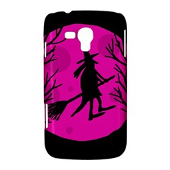 Halloween witch - pink moon Samsung Galaxy Duos I8262 Hardshell Case
