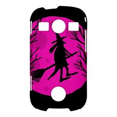 Halloween witch - pink moon Samsung Galaxy S7710 Xcover 2 Hardshell Case