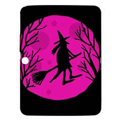 Halloween witch - pink moon Samsung Galaxy Tab 3 (10.1 ) P5200 Hardshell Case