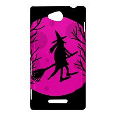 Halloween witch - pink moon Sony Xperia C (S39H)