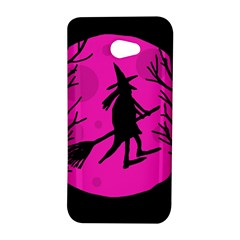 Halloween witch - pink moon HTC Butterfly S/HTC 9060 Hardshell Case