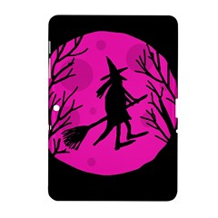 Halloween witch - pink moon Samsung Galaxy Tab 2 (10.1 ) P5100 Hardshell Case
