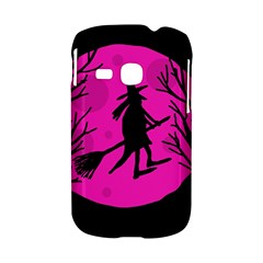Halloween witch - pink moon Samsung Galaxy S6310 Hardshell Case