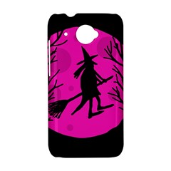 Halloween witch - pink moon HTC Desire 601 Hardshell Case