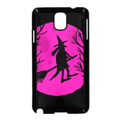 Halloween witch - pink moon Samsung Galaxy Note 3 Neo Hardshell Case (Black)