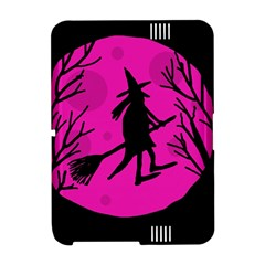 Halloween witch - pink moon Amazon Kindle Fire (2012) Hardshell Case