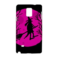 Halloween witch - pink moon Samsung Galaxy Note 4 Hardshell Case