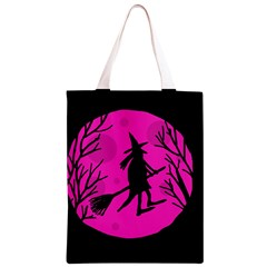 Halloween witch - pink moon Classic Light Tote Bag
