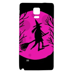 Halloween witch - pink moon Galaxy Note 4 Back Case