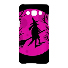 Halloween witch - pink moon Samsung Galaxy A5 Hardshell Case