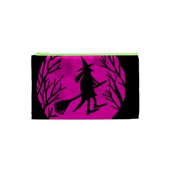 Halloween witch - pink moon Cosmetic Bag (XS)