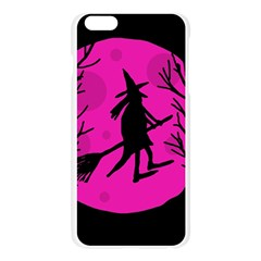 Halloween witch - pink moon Apple Seamless iPhone 6 Plus/6S Plus Case (Transparent)