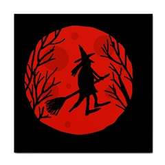 Halloween witch - red moon Tile Coasters