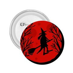 Halloween witch - red moon 2.25  Buttons
