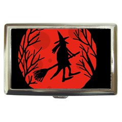 Halloween witch - red moon Cigarette Money Cases