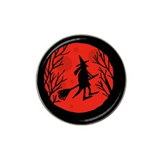 Halloween witch - red moon Hat Clip Ball Marker (4 pack)