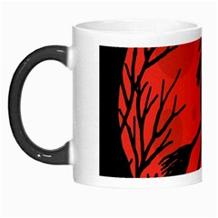 Halloween witch - red moon Morph Mugs