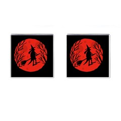 Halloween witch - red moon Cufflinks (Square)