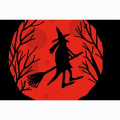 Halloween witch - red moon Collage Prints
