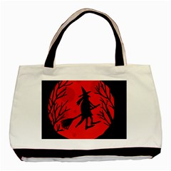 Halloween witch - red moon Basic Tote Bag