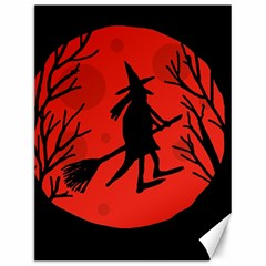 Halloween witch - red moon Canvas 12  x 16