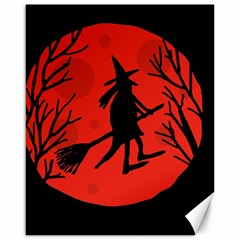 Halloween witch - red moon Canvas 16  x 20
