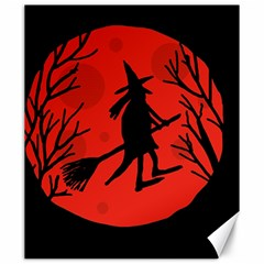 Halloween witch - red moon Canvas 20  x 24