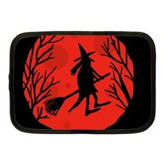 Halloween witch - red moon Netbook Case (Medium)