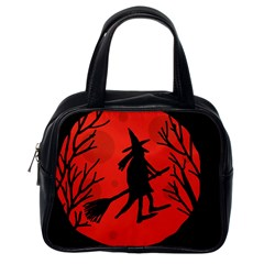 Halloween witch - red moon Classic Handbags (One Side)