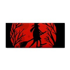 Halloween witch - red moon Hand Towel