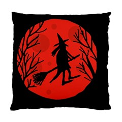 Halloween witch - red moon Standard Cushion Case (One Side)