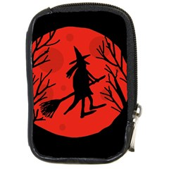 Halloween witch - red moon Compact Camera Cases