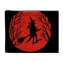 Halloween witch - red moon Cosmetic Bag (XL)