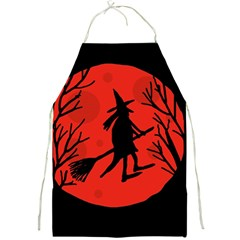 Halloween witch - red moon Full Print Aprons