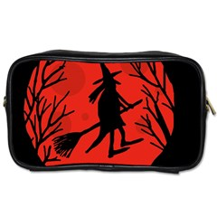 Halloween witch - red moon Toiletries Bags 2-Side