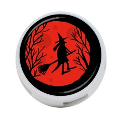 Halloween witch - red moon 4-Port USB Hub (One Side)