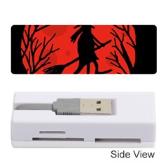 Halloween witch - red moon Memory Card Reader (Stick)